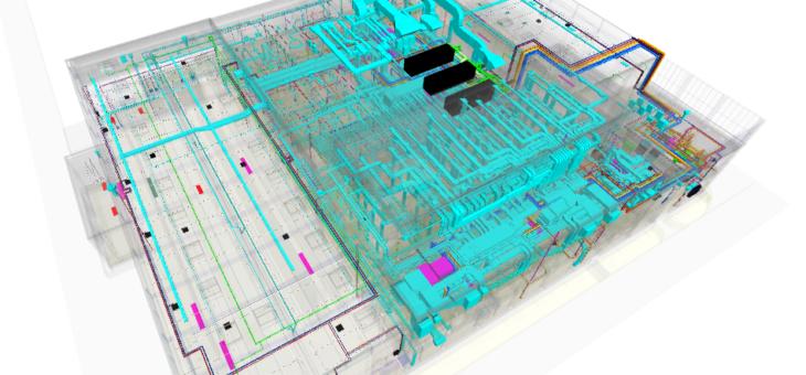 Projekt pełnobranżowy sanitarny w BIM dla rozbudowy zakładu produkcyjnego. Powierzchnia budynku 16 000m2. Realizacja inwestycji 2019/2020